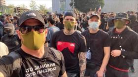 Neonazis ucranianos se encuentran entre manifestantes en Hong Kong