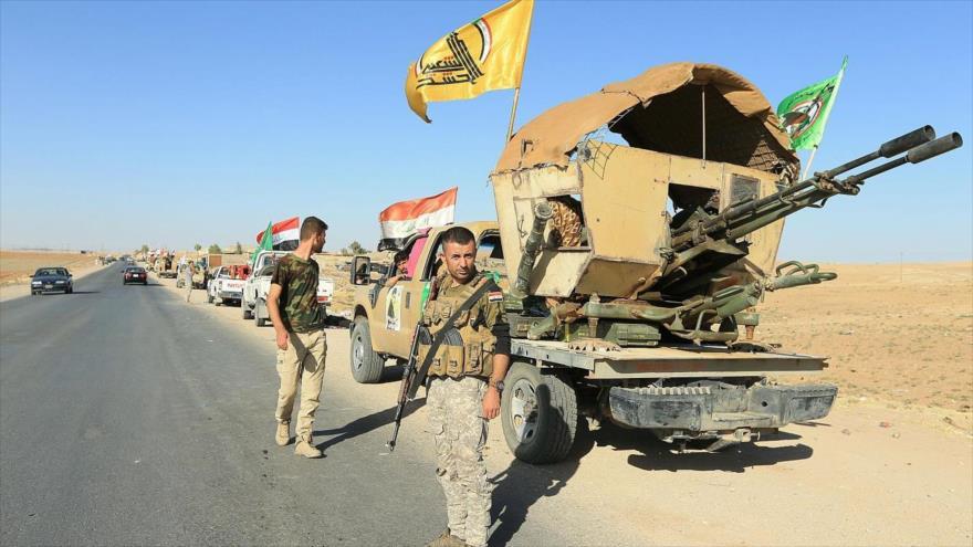 Combatientes de las Unidades de Movilización Popular (Al-Hashad Al-Shabi, en árabe) de Irak en la provincia de Nínive, octubre de 2017. (Foto: Reuters)