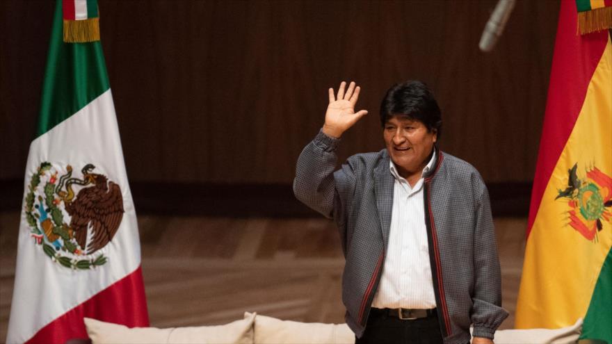 El presidente depuesto de Bolivia Evo Morales en un centro cultural en la Ciudad de México, 26 de noviembre de 2019. (Foto: AFP)