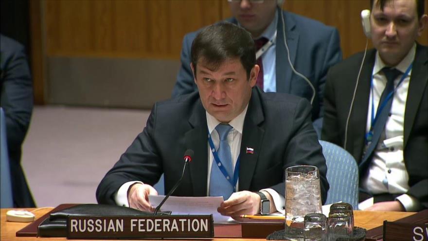 El representante permanente adjunto de Rusia ante las Naciones Unidas, Dmitry Polyanskiy.