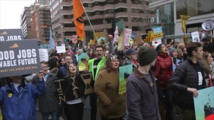 Manifestación por el cambio climático paraliza Washington