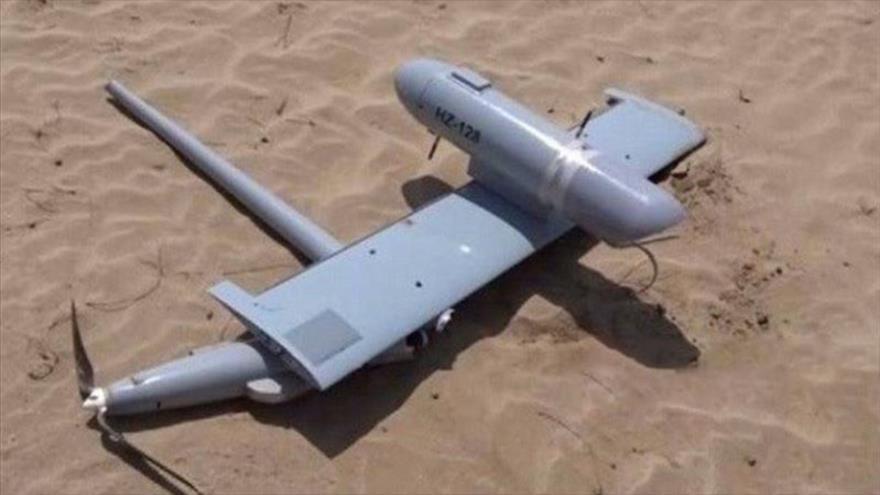 Un avión no tripulado (dron) perteneciente a Arabia Saudí, derribado por las fuerzas yemeníes.