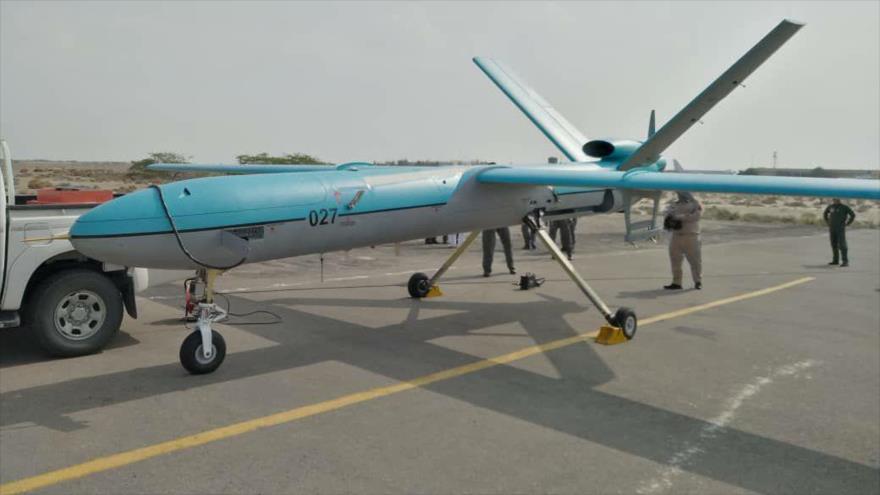 Simorq, avanzado avión no tripulado (dron) de la Fuerza Naval de Ejército de Irán.