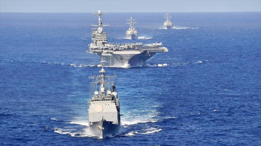 Un grupo de ataque naval liderado por el portaviones USS Harry S. Truman, de la Marina estadounidense.