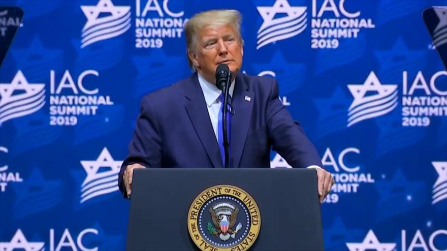 Donald Trump realiza acto de campaña con el lobby pro-israelí