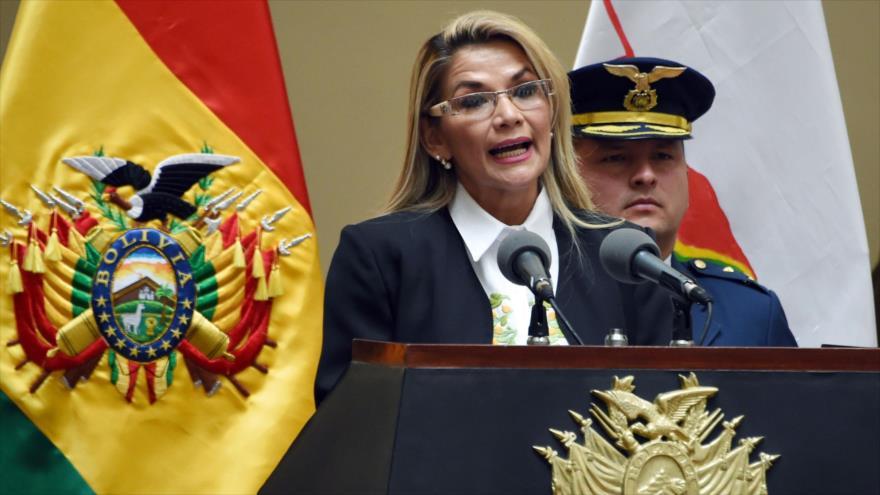 La autoproclamada presidenta interina de Bolivia, Jeanine Áñez, en La Paz, 24 de noviembre de 2019. (Foto: AFP)