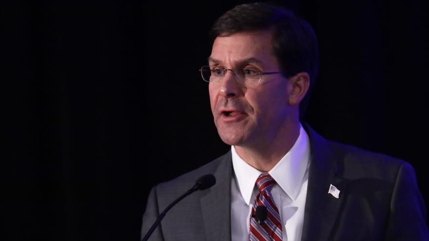 El secretario de Defensa de EE.UU., Mark Esper, en una conferencia en Washington, 5 de noviembre de 2019. (Foto: AFP)