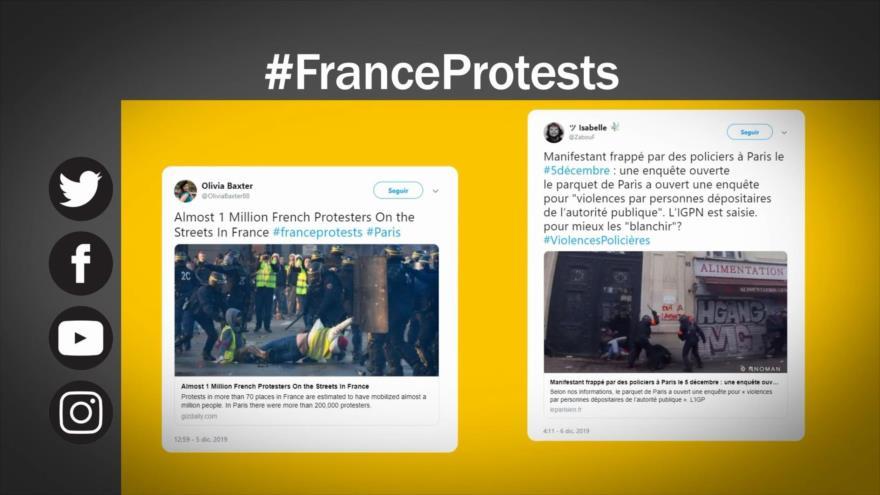 Etiquetaje: Francia; huelga contra reforma de pensiones de Macron