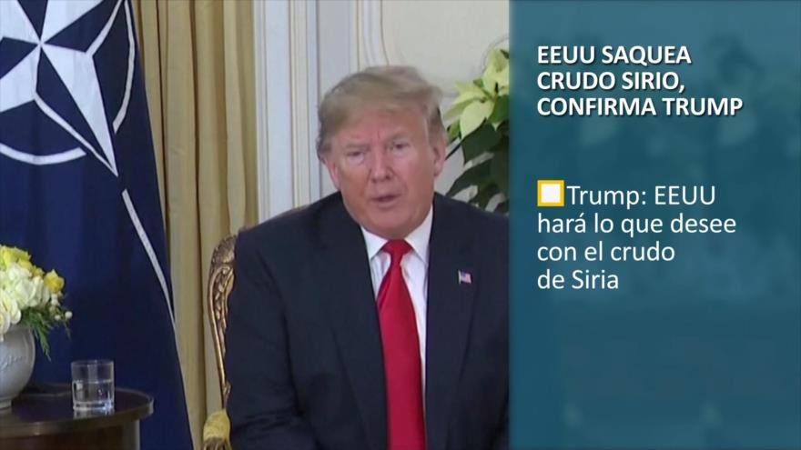 PoliMedios: EEUU saquea crudo sirio, confirma Trump
