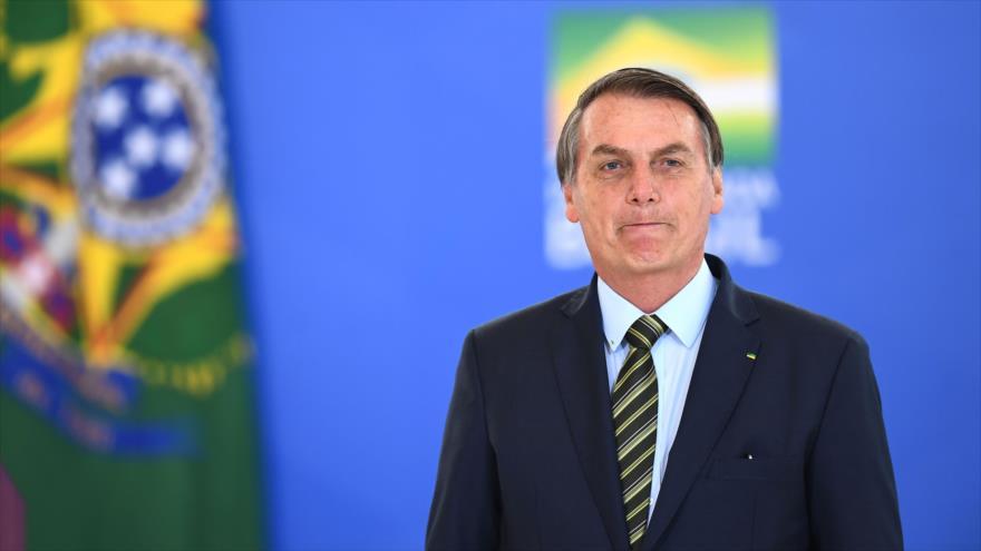 El presidente de Brasil, Jair Bolsonaro, en la ceremonia de promoción de generales de las Fuerzas Armadas, Brasil, 9 de diciembre de 2019. (Foto: AFP)