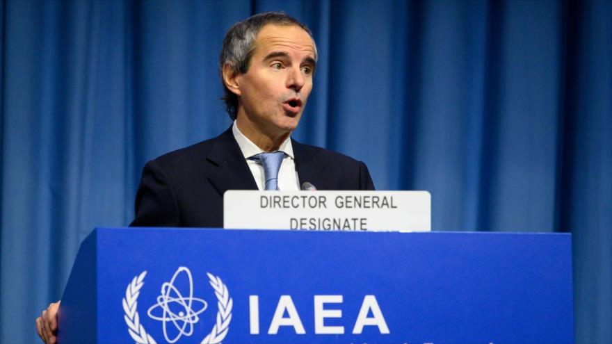 El nuevo director general de la AIEA, Rafael Mariano Grossi, en una rueda de prensa en Viena, 2 de diciembre de 2019. (Foto: AFP)