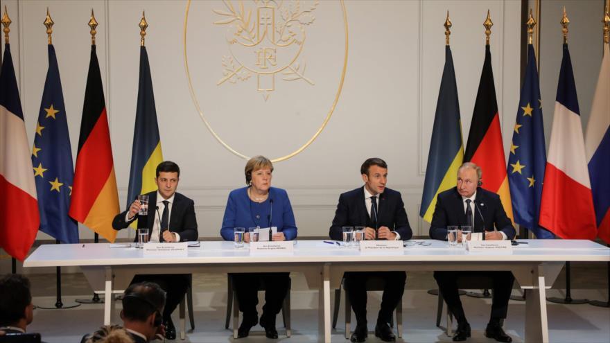 Cuarteto de Normandía acuerda estabilizar el este de Ucrania