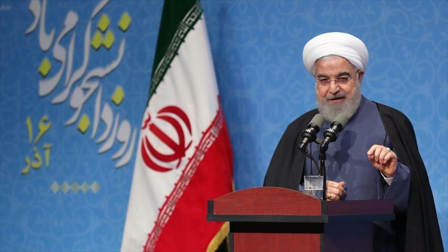 El presidente iraní, Hasan Rohani, ofrece un discurso en Teherán, la capital, 9 de diciembre de 2019. (Foto: President.ir)
