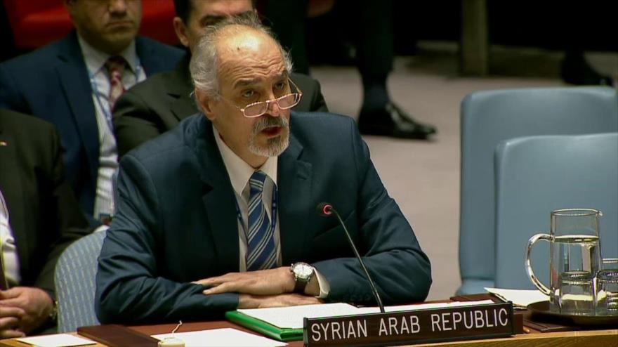 El representante permanente sirio ante las Organización de las Naciones Unidas (ONU), Bashar al-Yafari.