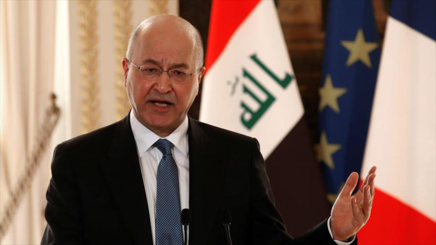El presidente de Irak, Barham Saleh.