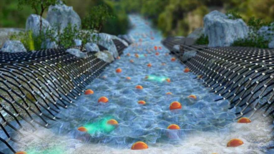 """Con una técnica única de imagen ya se puede observar, por primera vez, el """"flujo de electrones hidrodinámico"""" a través de un grafeno."""