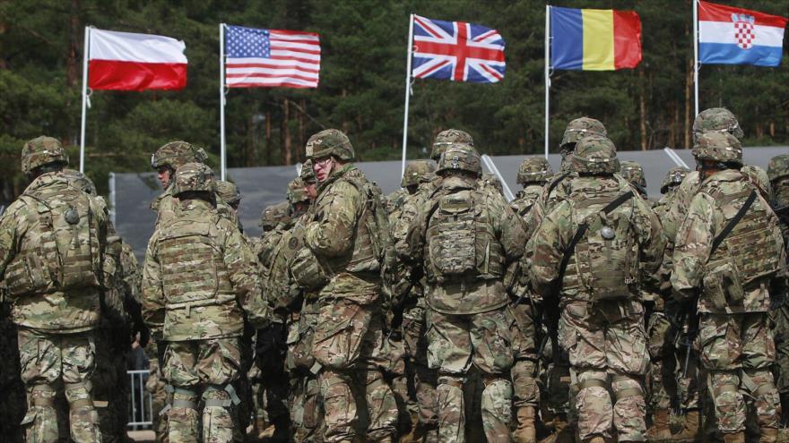 Las fuerzas estadounidenses de la OTAN en Orzysz, noreste de Polonia, 13 de abril de 2017. (Foto: AP)