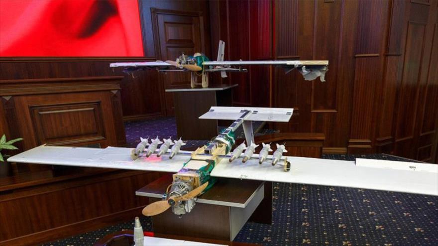 Drones de fabricación casera utilizado por terroristas en Siria.