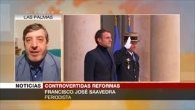 José Saavedra: Macron, en lugar de resolver problemas, los acrecenta