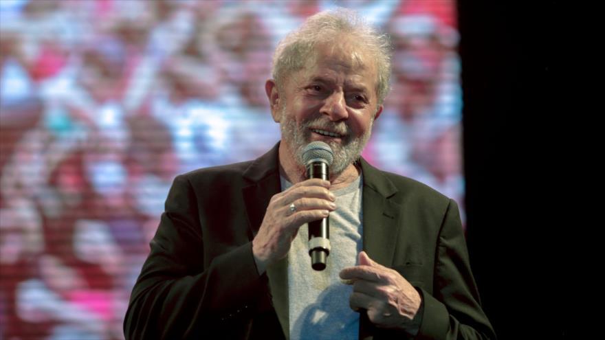 El expresidente brasileño Luiz Inácio Lula da Silva en Recife, estado de Pernambuco, Brasil, 17 de noviembre de 2019. (Foto: AFP)