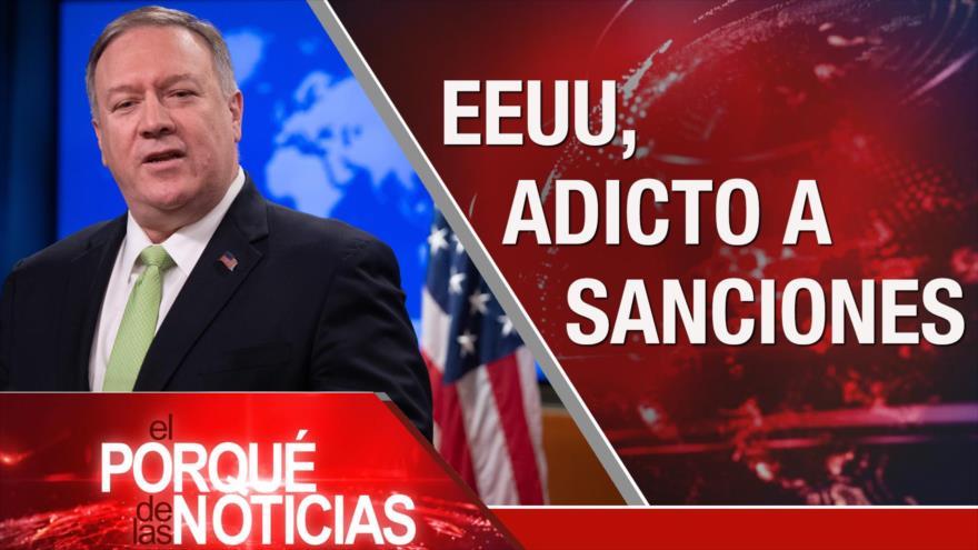 El Porqué de las Noticias: Sanciones de EEUU contra Irán. Masacres en Bolivia. Polémica reforma de pensiones en Francia