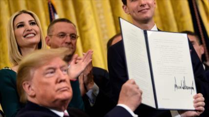 Trump emite orden que bloquea expansión del boicot a Israel en EEUU