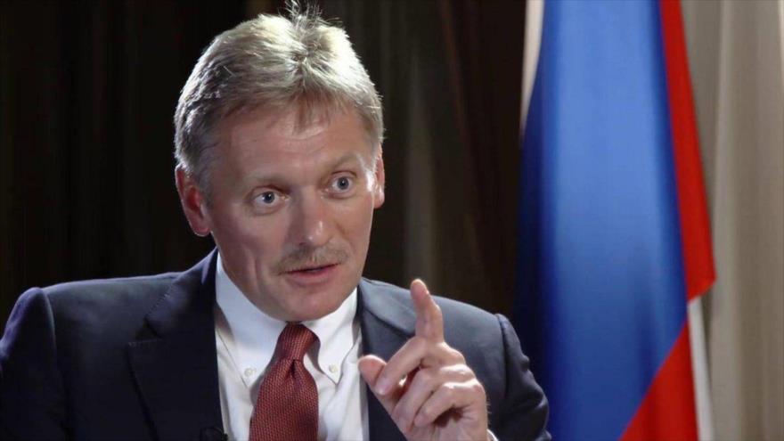 El portavoz de la Presidencia rusa, Dmitri Peskov, en Moscú, la capital.