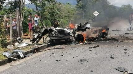 Atentado con coche bomba atribuido al ELN deja heridos en Colombia