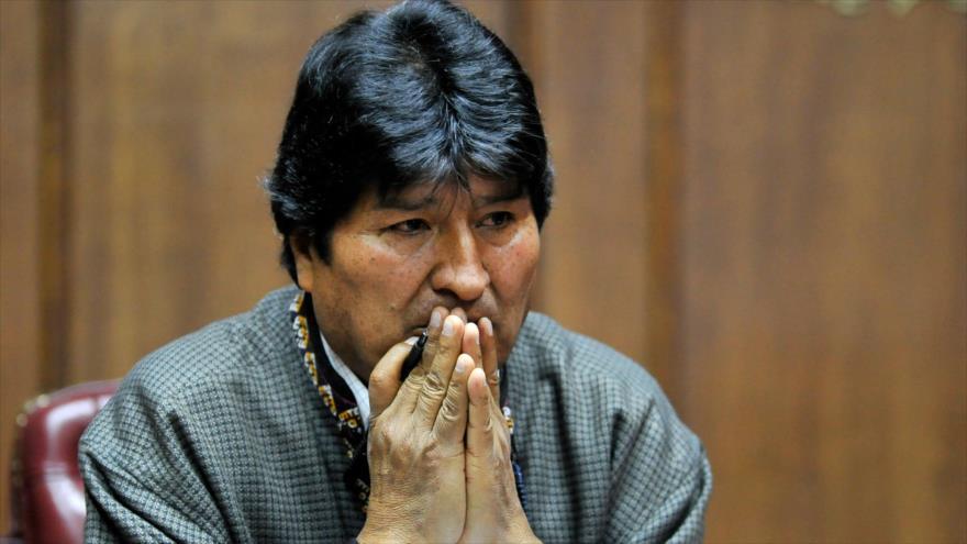 Presidente depuesto de Bolivia Evo Morales en un discurso en el Club de Periodistas Mexicanos, en Ciudad de México, 27 de noviembre de 2019. (Foto: AFP)