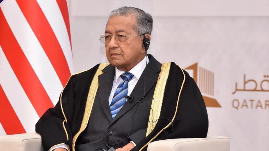 Primer ministro de Malasia, Mahathir Mohamad, en el Foro de Doha, Catar, 14 de diciembre de 2019.