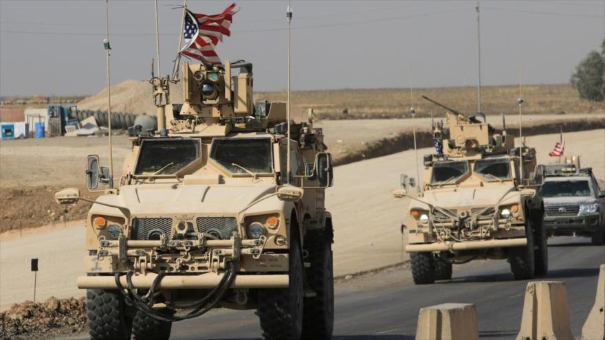 Un convoy estadounidense en el cruce fronterizo iraquí-sirio, 21 de octubre de 2019. (Foto: Reuters)