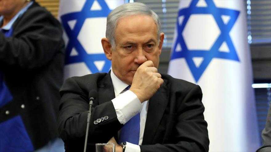 El primer ministro israelí, Benjamín Netanyahu, en una reunión en Al-Quds (Jerusalén), 20 de noviembre de 2019. (Foto: AFP)