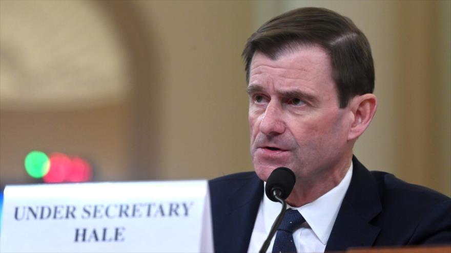 El vicesecretario de Estado de EE.UU. para Asuntos Políticos, David Hale, en el Capitolio, en Washington D.C., 20 de noviembre de 2019. (Foto: AFP)