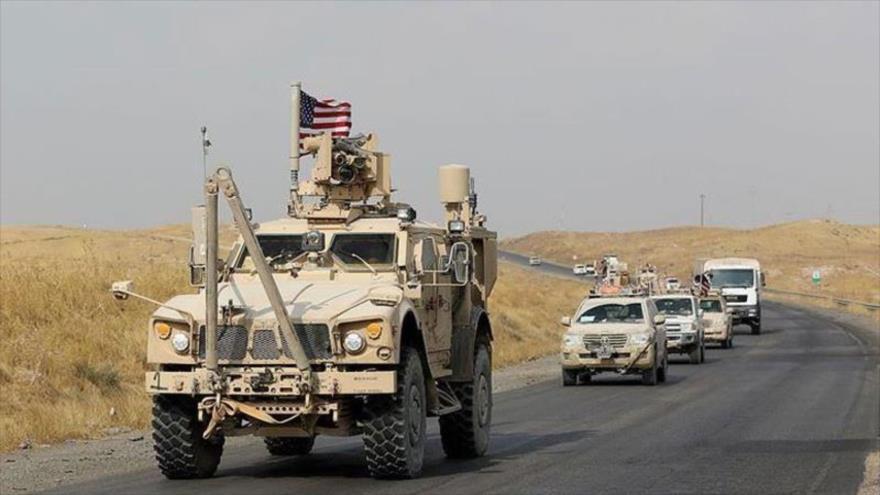 Un convoy militar de EE.UU. entra en la provincia de Al-Hasaka, en el noreste de Siria, 15 de diciembre de 2019. (Foto: Anadolu)