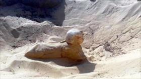 """Descubren en El Cairo una esfinge con """"rasgos claros y hermosos"""""""