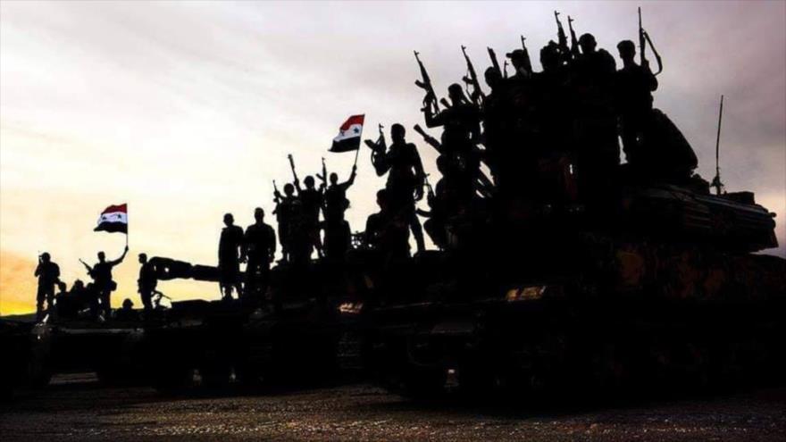 Una unidad del Ejército sirio desplegada en la provincia de Idlib, en el noroeste de Siria.