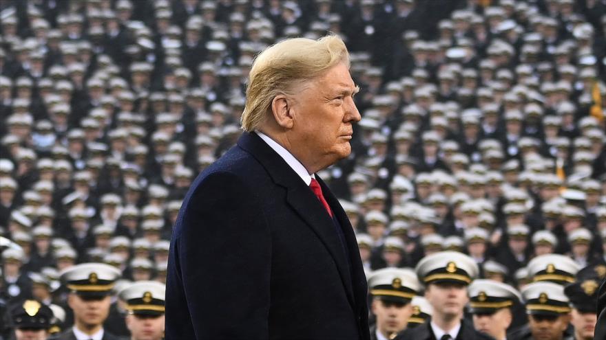 El presidente de EE.UU., Donald Trump, asiste a un partido de fútbol en Pensilvania, 14 de diciembre de 2019. (Foto: AFP)