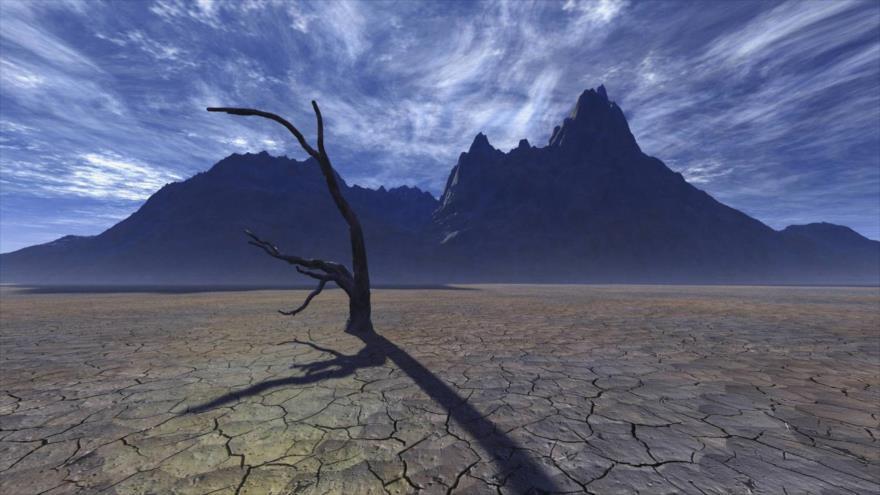 La sequía, causa directa de las tórridas temperaturas.