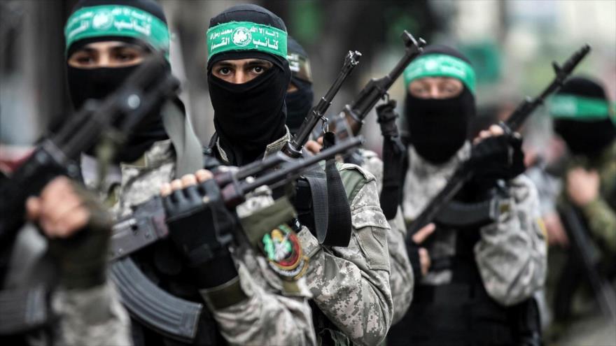 Las Brigadas Ezzedin Al-Qassam, brazo armado de HAMAS, durante una marcha en Gaza, 5 de diciembre de 2017. (Foto: AFP)