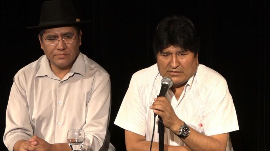 """Evo Morales califica de """"golpista"""" a la OEA"""