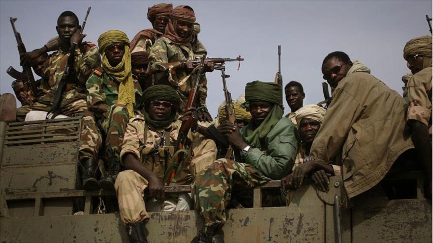 Soldados del Ejército de Chad.