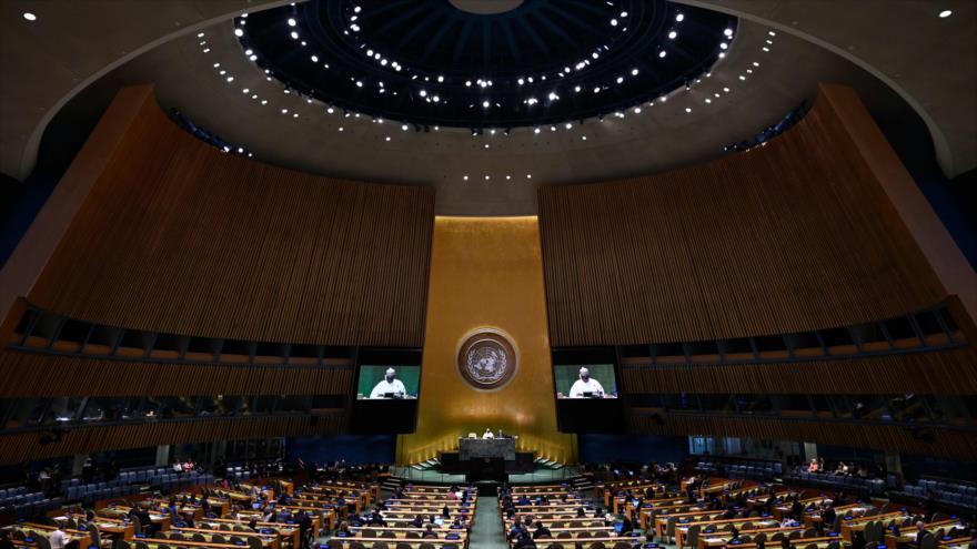 Un debate en el 74.º periodo de sesiones de la Asamblea General de las Naciones Unidas (AGNU), 28 de septiembre de 2019. (Foto: AFP)