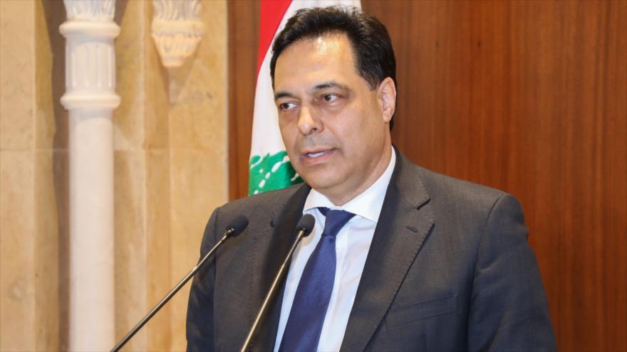 El nuevo premier libanés, Hasan Diab, ofrece una declaración en Beirut, la capital del país árabe, 20 de diciembre de 2019. (Foto: AFP)