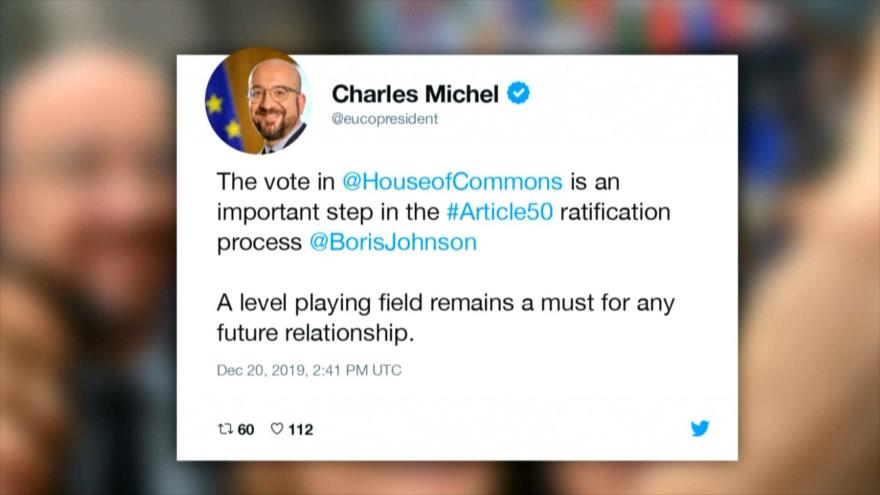 """UE ve como un """"paso importante"""" la aprobación del plan de Johnson"""