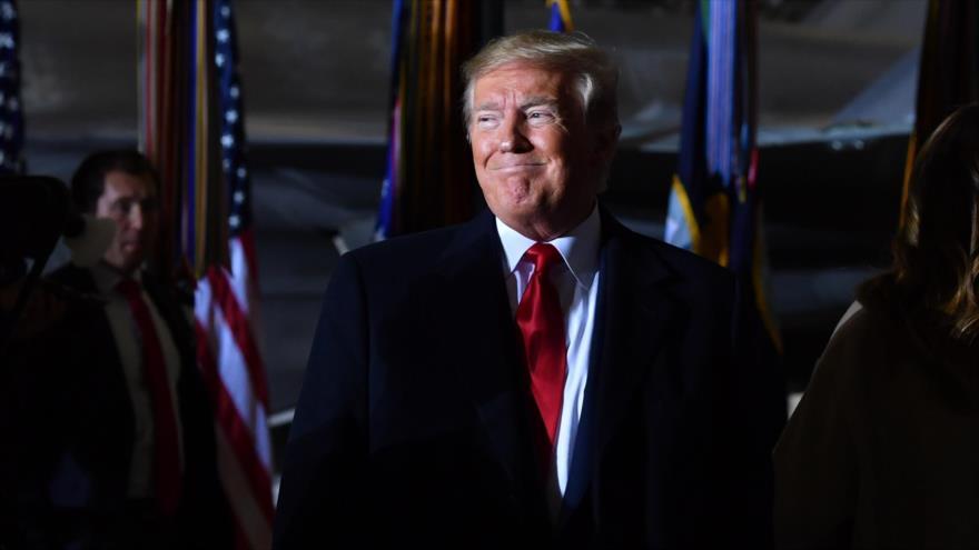 El presidente de EE.UU., Donald Trump, en la Base Conjunta Andrews, Maryland, EE.UU., 20 de diciembre de 2019. (Foto: AFP)