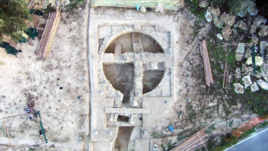 Imagen del lugar del descubrimiento de dos tumbas en Grecia.