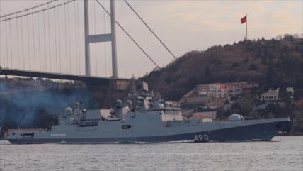 Fotos: Rusia envía a Siria otro buque armado con misiles Kalibr