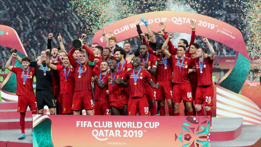 El Liverpool se proclama campeón del Mundial de Clubes en Doha, Catar, 21 de diciembre de 2019. (Foto: AFP)