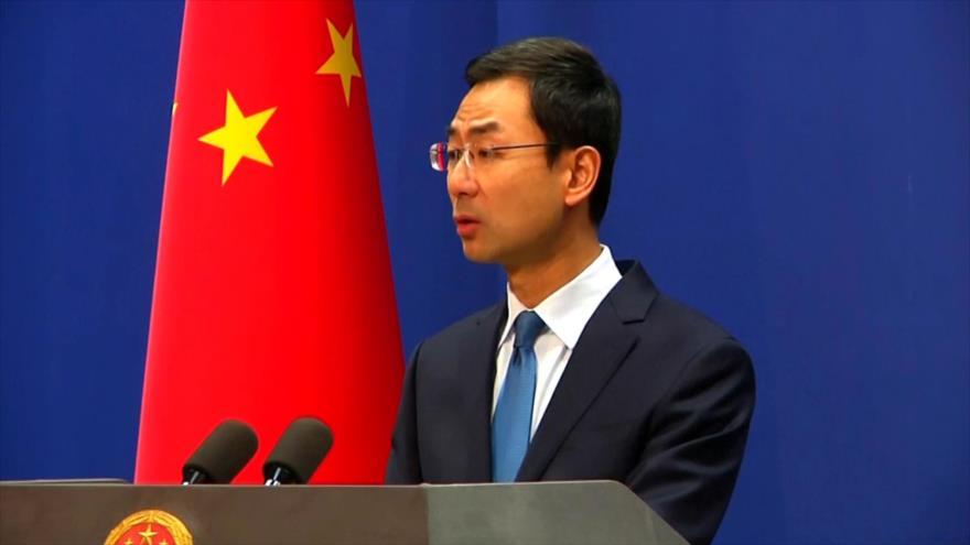 El portavoz de la Cancillería china, Geng Shuang.