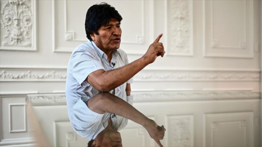 El depuesto presidente boliviano, Evo Morales, durante una entrevista en Buenos Aires, la capital argentina, 24 de diciembre de 2019. (Foto: AFP)